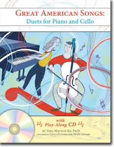"""""""Great American Songs: Duets for Piano and Cello"""" by Vera Mattlin Jiji"""