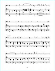 """Great American Songs: Duets for Piano and Cello"" page 38: ""Yankee Doodle Boy"" sheet music sample."