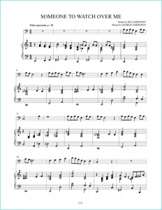 """Great American Songs: Duets for Piano and Cello"" page 53: ""Someone To Watch Over Me"" sheet music sample."